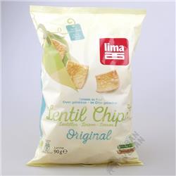Chipsy z soczewicy BIO 90g Lima