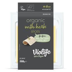 Ser wegański plastry BIO ziołowy 200g Violife