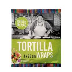 Tortilla Wrapy 25cm 4szt. 240g De Care