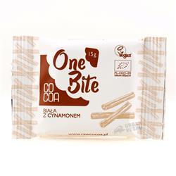 Czekolada biała z cynamonem One Bite 15g Cocoa