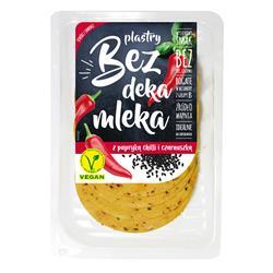 Ser wegański plastry chilli czarnuszka 100g Bez DM