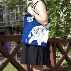 Ekotorba torba Urban Vegan - Niebieska