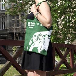 Ekotorba torba Urban Vegan - Zielona