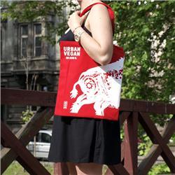 Ekotorba torba Urban Vegan - Czerwona
