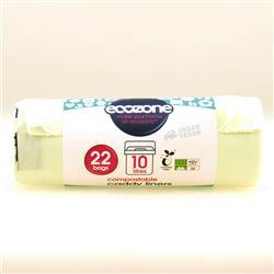 Worki biodegr.do odpadów organicznych 10Lx22szt Ec