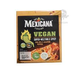 Ser cheddar wegańki spicy z jalapeno 200g Mexicana