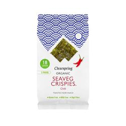 Chipsy z alg morskich Chilli Seaveg 4g CLEARSPRING