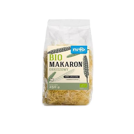 Makaron orkisz-kurkuma nitki BIO 250g NIRO-8079