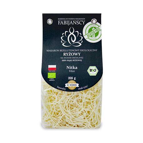 Makaron z ryżu białego nitka BIO 225g Fabijańscy -8080