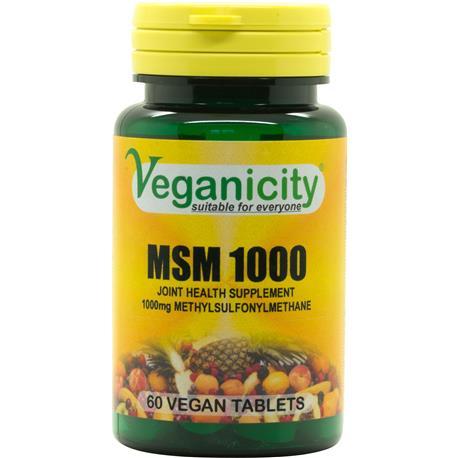 MSM 1000mg 60 tab. Veganicity-8328
