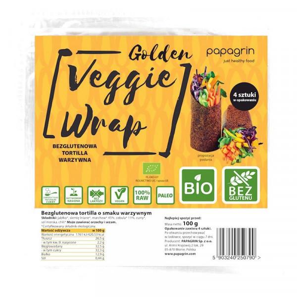 Bezglutenowa tortilla warzywna BIO Papagrin 100g