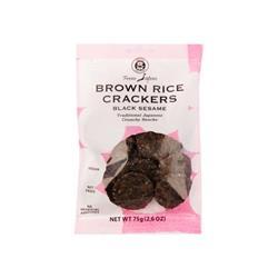 Krakersy ryżowe z czarnym sezamem 75g MUSO