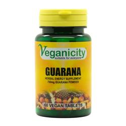 Guarana 750mg 60 tab. Veganicity