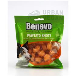 """Smakołyki dla psa """"Pawtato knots"""" 150g Benevo"""