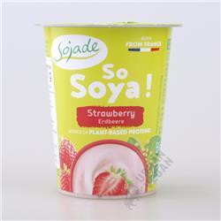 Jogurt sojowy truskawkowy 125g Sojade
