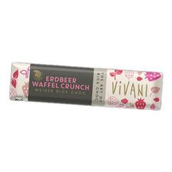Czekoladka ryżowa truskawkowa 35g Vivani