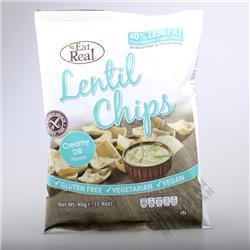 Chipsy z soczewicy kremowy koperek 40g Eat Real