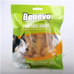 """Smakołyki dla psa """"Pawtato knots"""" DUŻE 180g Benevo"""