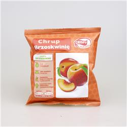 Suszone chipsy z brzoskwini 15g Crispy Natural