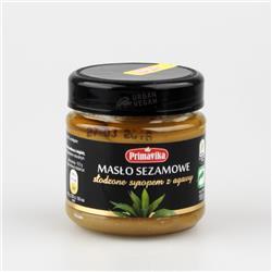Masło sezamowe słodzone agawą 185g Primavika