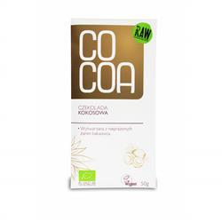 Czekolada kokosowa RAW 50g Cocoa